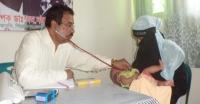 মঠবাড়িয়ায় বিনামূল্যে চিকিৎসাসেবা প্রদান